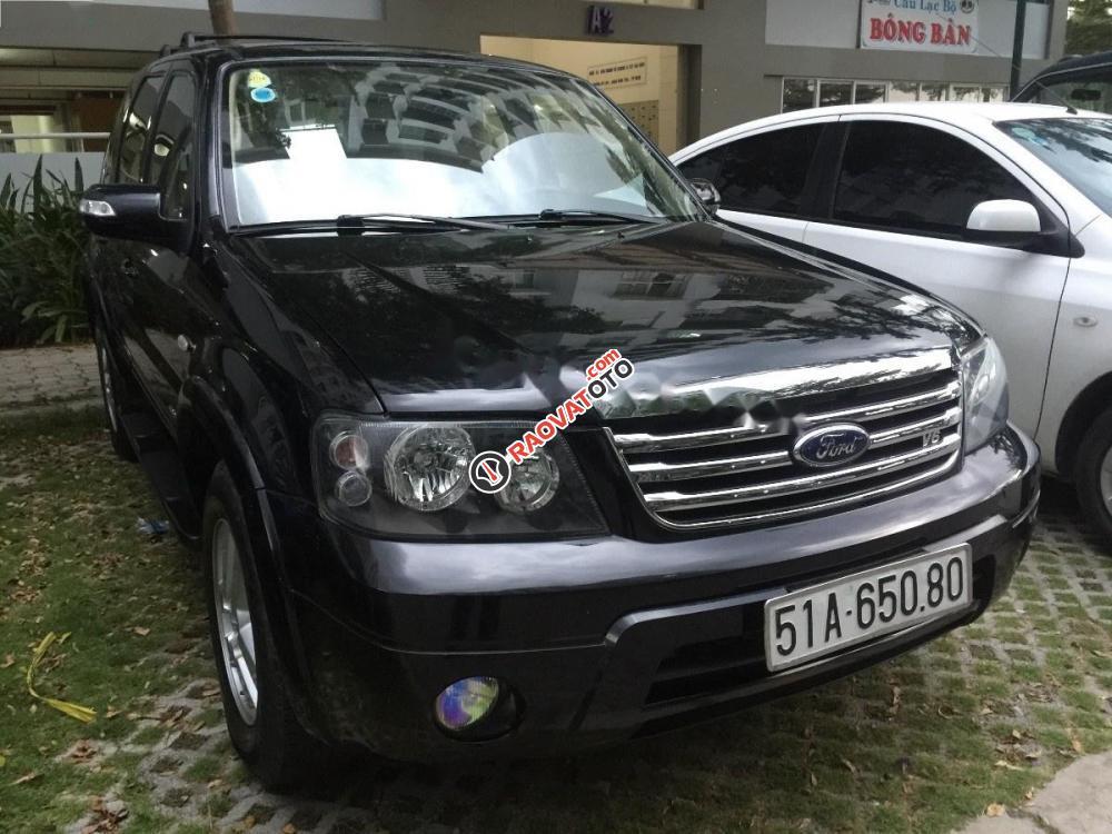 Cần bán gấp Ford Escape XLT 2.3 4x4 đời 2007, màu đen chính chủ-1