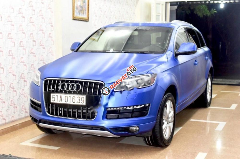 Cần bán gấp Audi Q7 Sline đời 2009, màu xanh lam, nhập khẩu nguyên chiếc-0