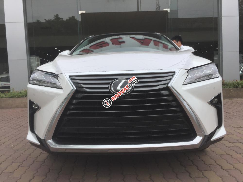 Bán ô tô Lexus RX 350 Luxury 2017, màu trắng nhập khẩu full options-0