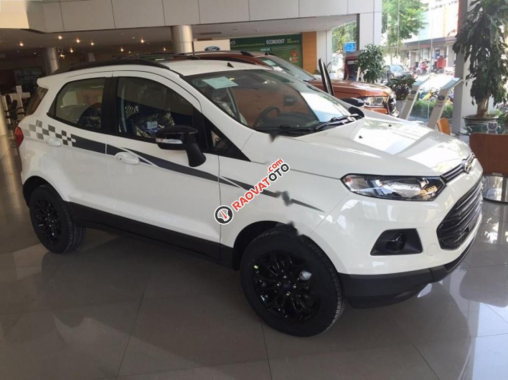 Bán Ford EcoSport Titanium Black 1.5L AT đời 2017, màu trắng-3