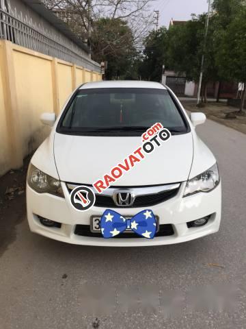 Bán Honda Civic đời 2010, màu trắng số sàn, giá 360tr-4