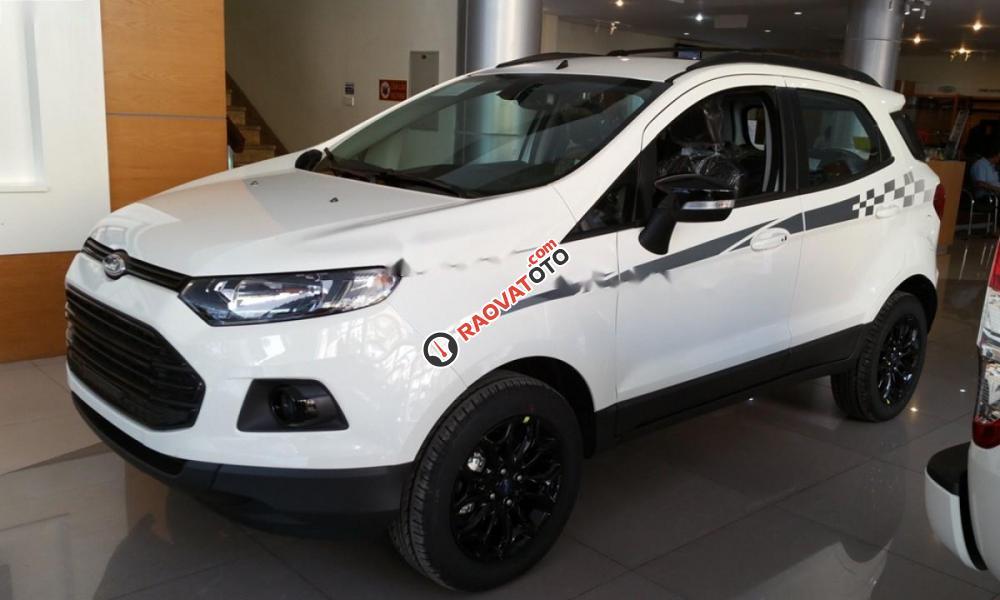 Bán Ford EcoSport Titanium Black 1.5L AT đời 2017, màu trắng-4