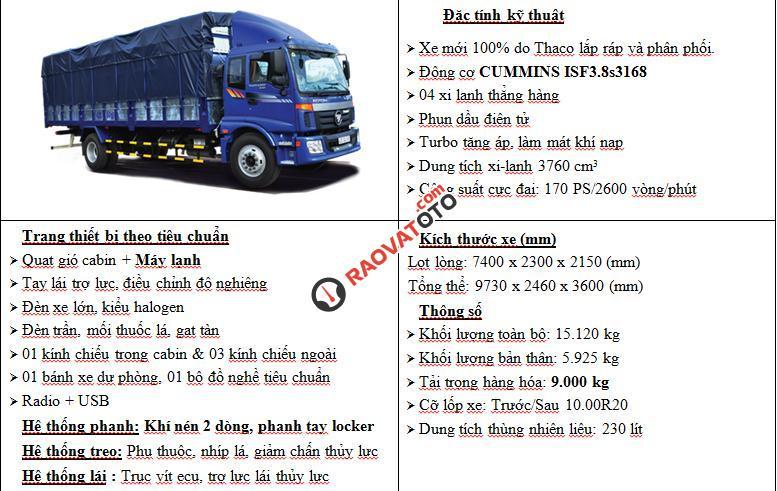 Bán xe tải nặng Thaco Auman 9 tấn, 3 chân 14 tấn, 4 chân 17,995 tấn, 5 chân 20,5 tấn-2