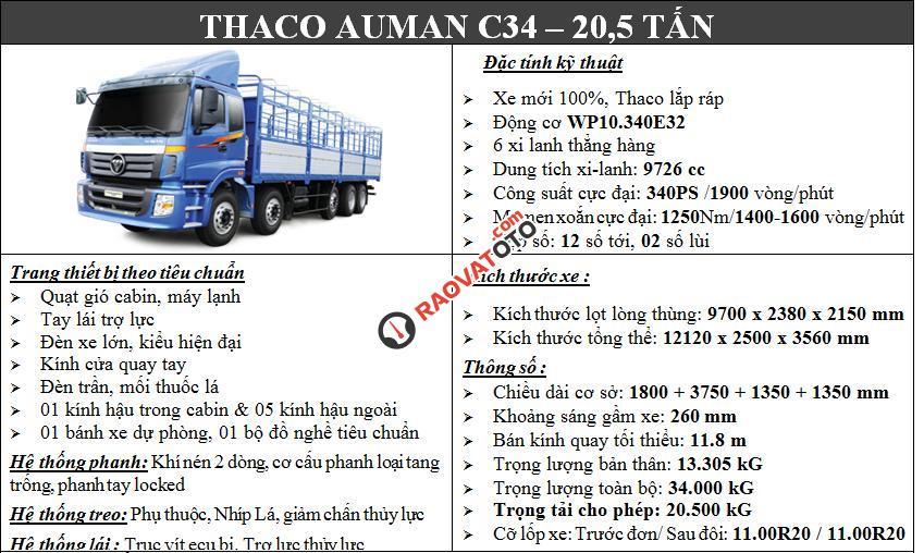 Bán xe tải nặng Thaco Auman 9 tấn, 3 chân 14 tấn, 4 chân 17,995 tấn, 5 chân 20,5 tấn-0