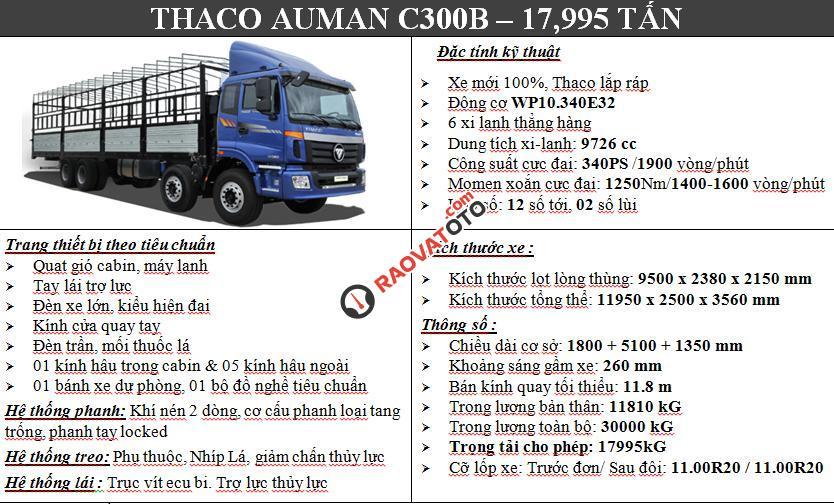 Bán xe tải nặng Thaco Auman 9 tấn, 3 chân 14 tấn, 4 chân 17,995 tấn, 5 chân 20,5 tấn-4