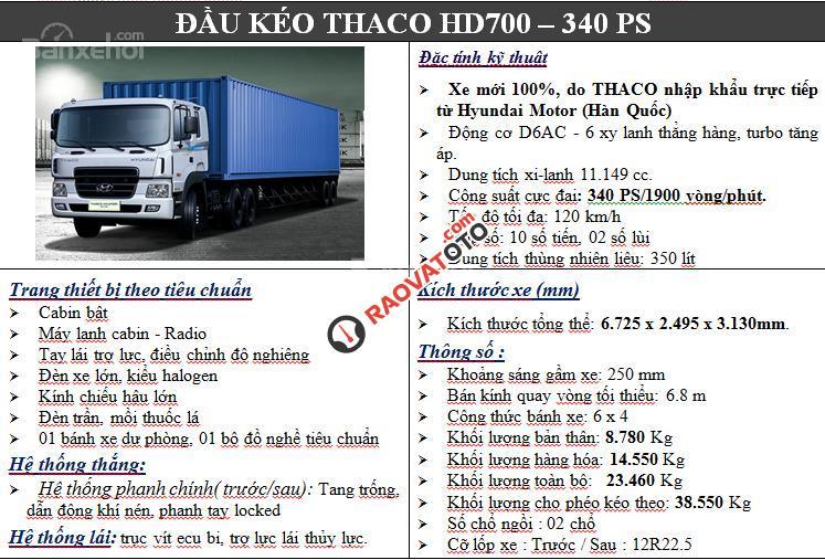 Đầu kéo Hyundai HD700, xe đầu kéo Hyundai HD700, đầu kéo Hyundai HD 700 38,5 tấn-5