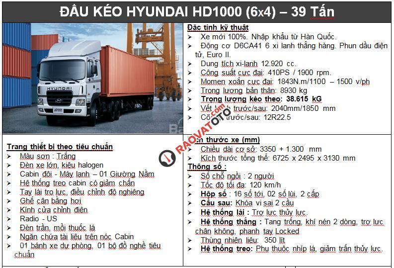 Đầu kéo Hyundai HD700, xe đầu kéo Hyundai HD700, đầu kéo Hyundai HD 700 38,5 tấn-4