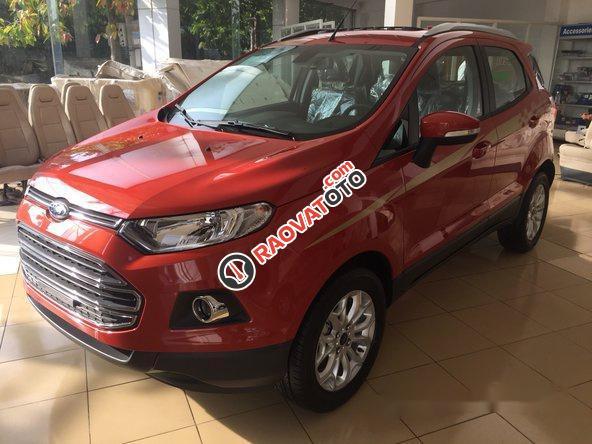 Bán Ford EcoSport đời 2017, màu đỏ-0