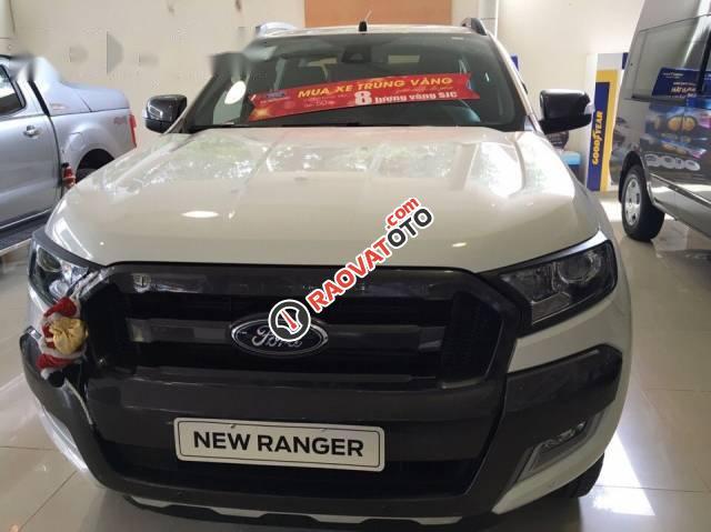 Bán ô tô Ford Ranger đời 2017, màu trắng -3