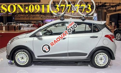 Cần bán xe Hyundai Grand i10 , màu bạc, LH Ngọc Sơn: 0911.377.773-14