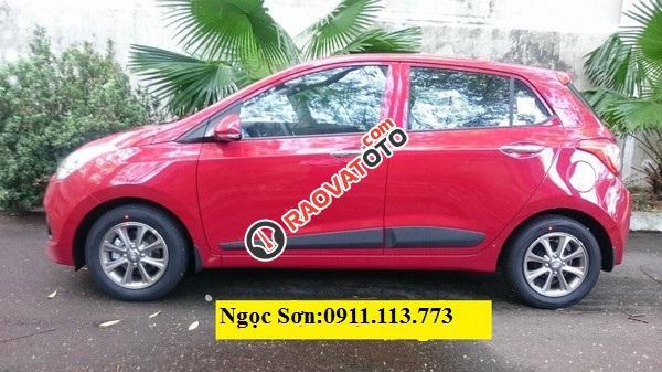 Bán Hyundai Grand i10, màu đỏ, trả góp 90%xe, LH Ngọc Sơn: 0911377773-2