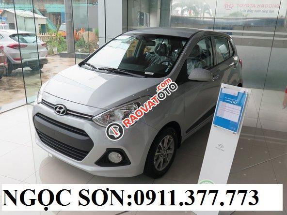 Cần bán xe Hyundai Grand i10 , màu bạc, LH Ngọc Sơn: 0911.377.773-9