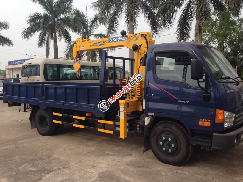 Bán xe tải Hyundai HD99 2016, gắn cẩu Unic(UR-V343) 3 tấn 3 đốt, tại Hà Nội, giá cạnh tranh-0