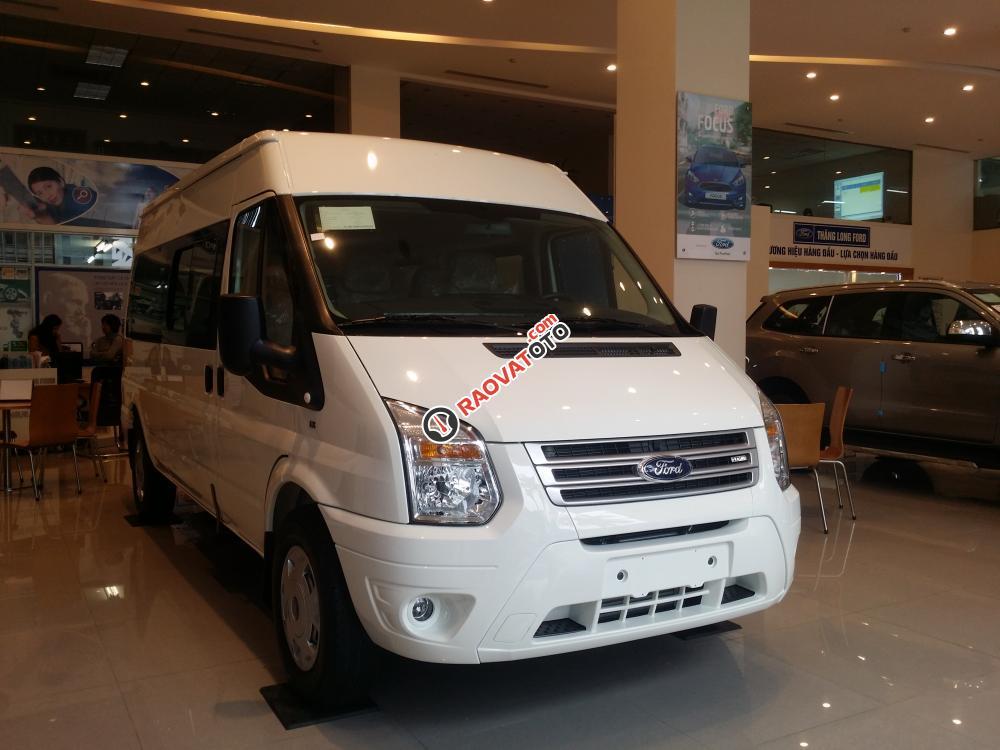 Bán xe Ford Transit Model 2018, KM BHTV, rèm cửa, ngân hàng 90%-1
