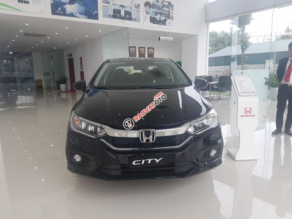 Bán Honda City top đời 2018, màu đen, giá tốt Bắc Ninh, hỗ trợ 80%, Mr Thịnh 0966108885-0