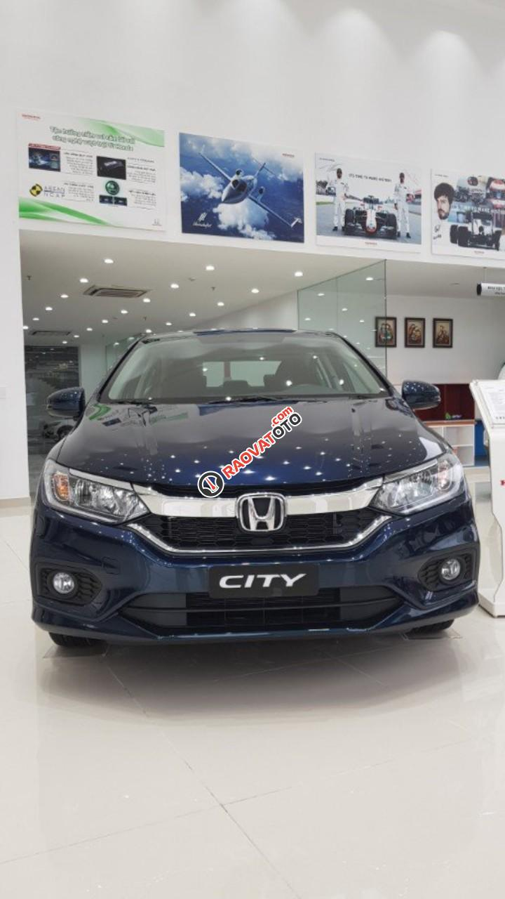 Ô tô Honda City 1.5 CVT đời 2017, màu xanh, Honda ô tô Bắc Ninh, hỗ trợ trả góp 80%-0