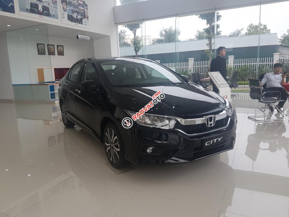 Bán Honda City top đời 2018, màu đen, giá tốt Bắc Ninh, hỗ trợ 80%, Mr Thịnh 0966108885-1