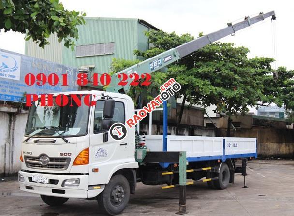 Bán xe tải Hino 1.9 tấn, gắn cẩu Unic giá tốt nhất-1