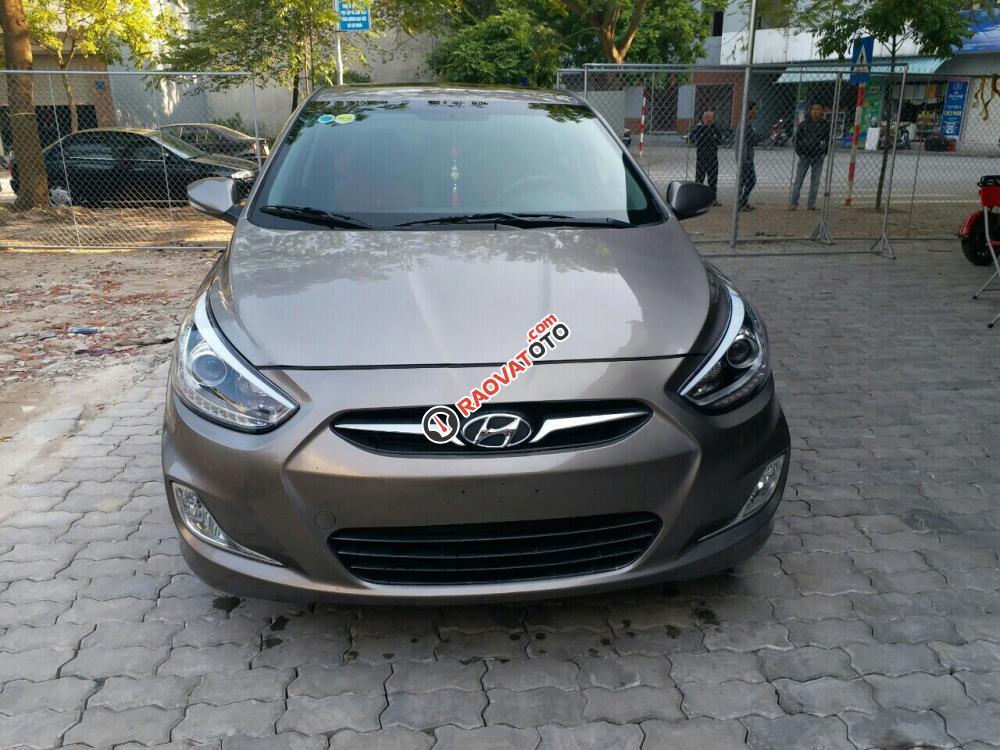 Bán ô tô Hyundai Accent đời 2014 màu nâu, chạy 4 vạn, 405 triệu, nhập khẩu nguyên chiếc-0