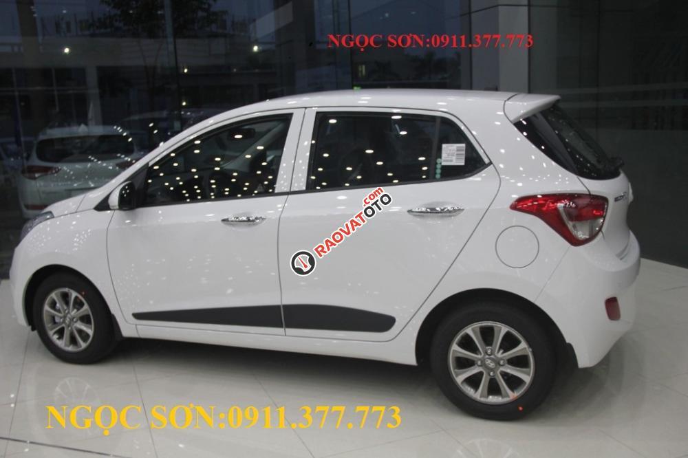 Cần bán xe Hyundai Grand i10 mới, màu trắng, liên hệ Ngọc Sơn: 0911.377.773-3