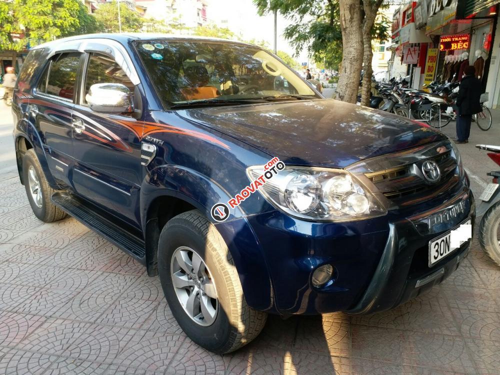 Toyota Fortuner SR5 4x4AT màu xanh, 2 cầu máy xăng, sản xuất 2008, nhập khẩu Thái Lan-1