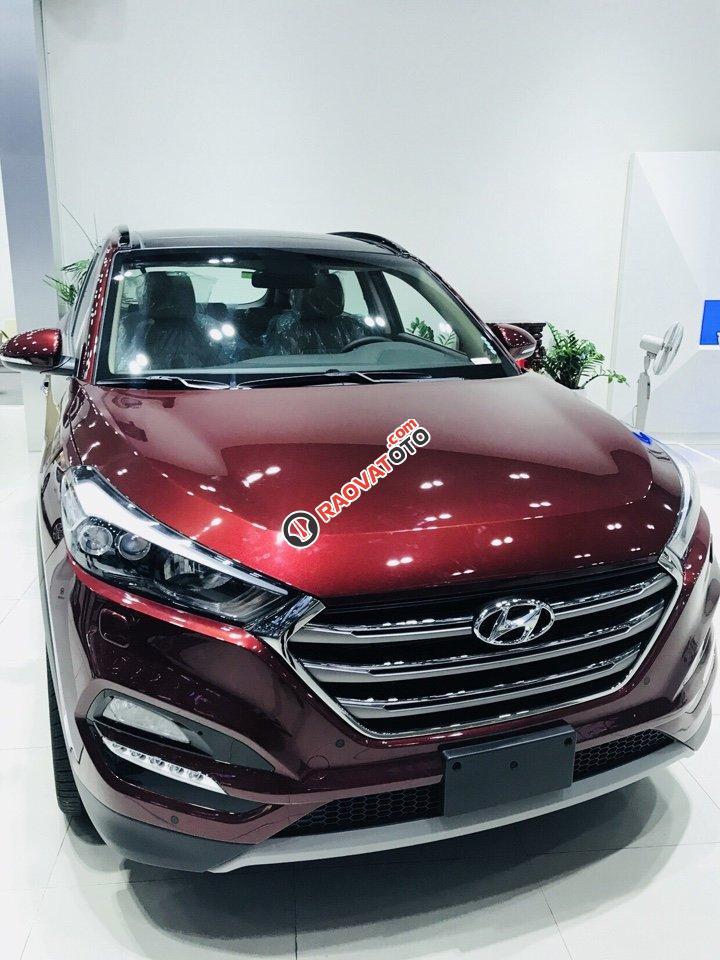 Hyundai Tucson 1.6AT Turbo đỏ giao ngay chỉ có tại Hyundai Kinh Dương Vương lại còn tặng thêm BHVC 1 năm-0