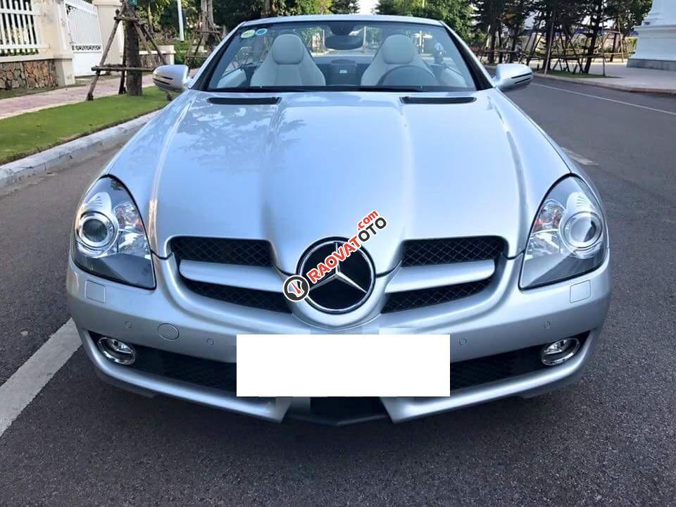 Mercedes Benz SLK200 2010 màu bạc, nhập khẩu Đức, biển Hà Nội-0