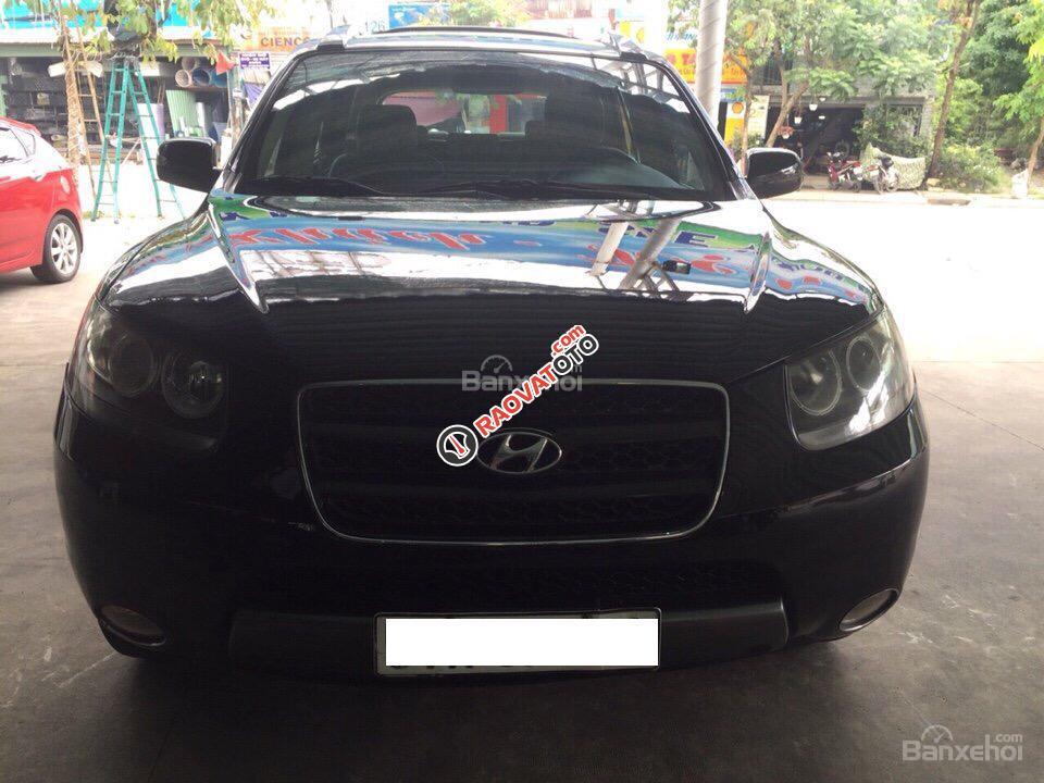 bán xe  Hyundai Santa Fe  đời 2008, màu đen  -1