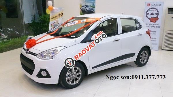 Cần bán xe Hyundai Grand i10 mới, màu trắng - LH Ngọc Sơn: 0911.377.773-0
