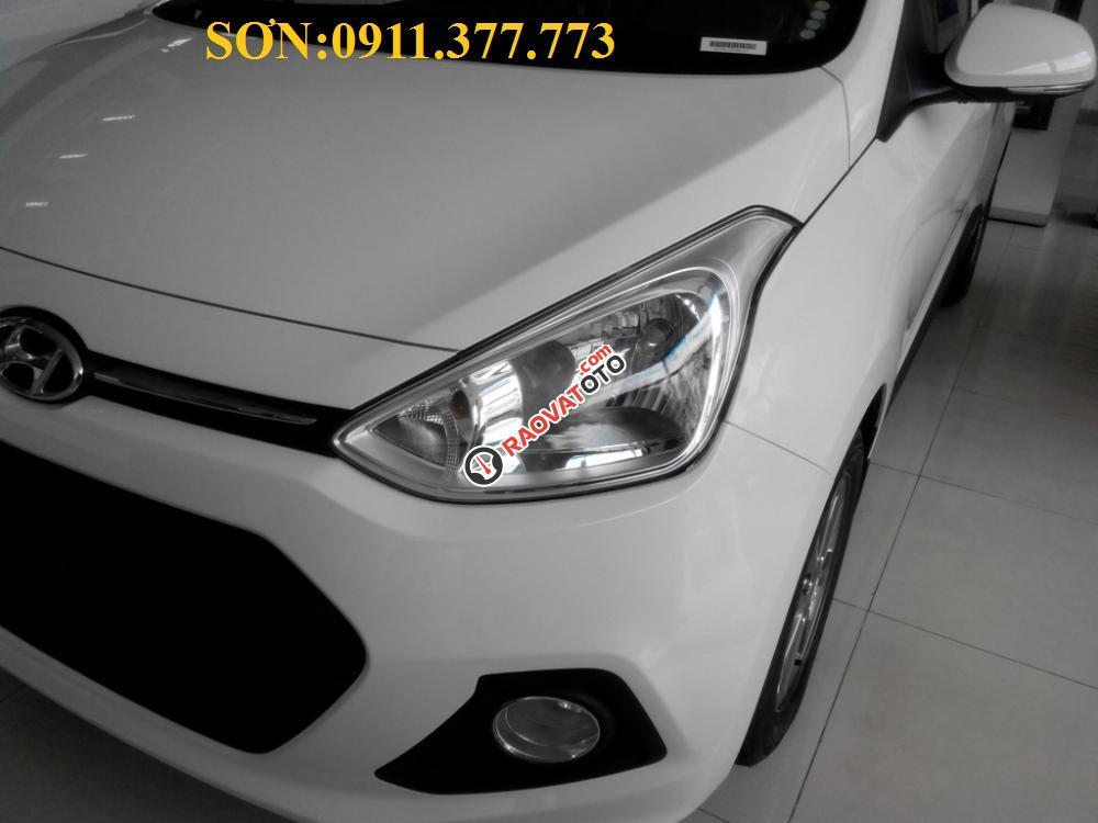 Cần bán xe Hyundai Grand i10 mới, màu trắng - LH Ngọc Sơn: 0911.377.773-17