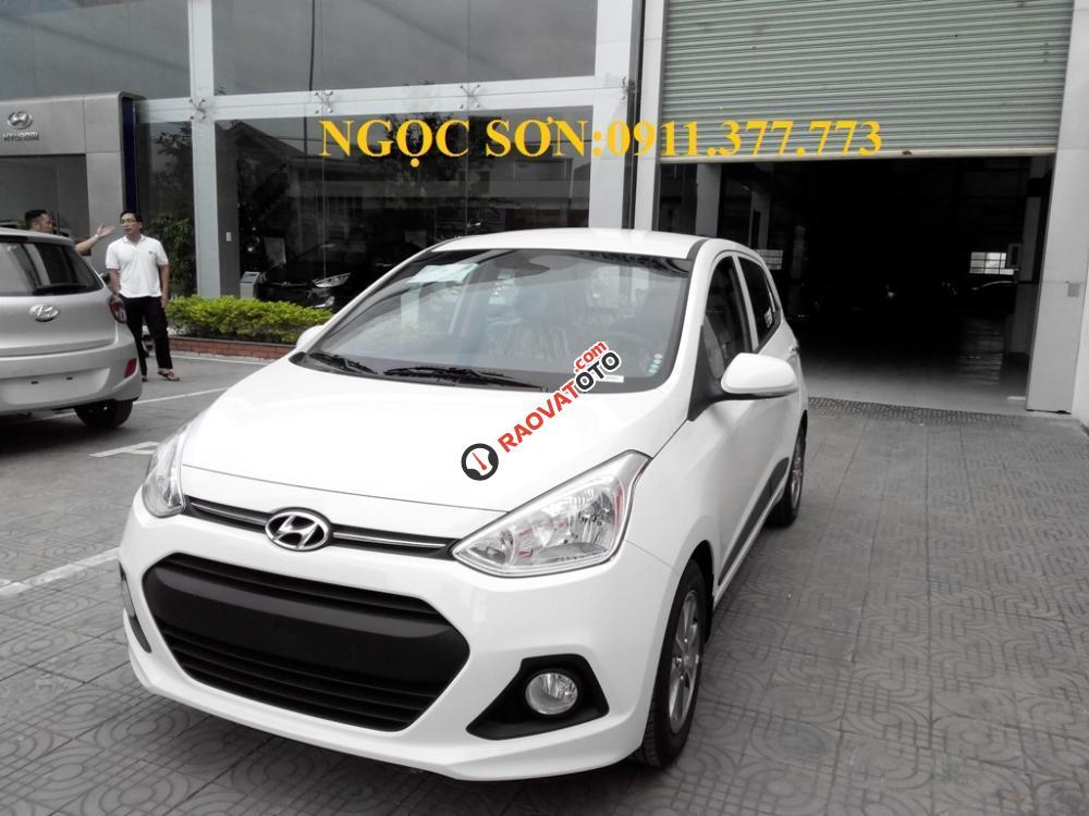 Cần bán xe Hyundai Grand i10 mới, màu trắng - LH Ngọc Sơn: 0911.377.773-6