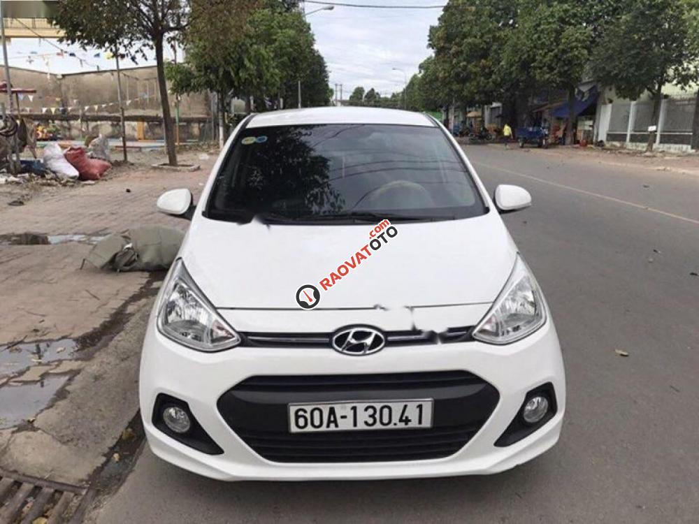 Cần bán xe Hyundai Grand i10 AT năm 2013, màu trắng, nhập khẩu nguyên chiếc còn mới, 345 triệu-1