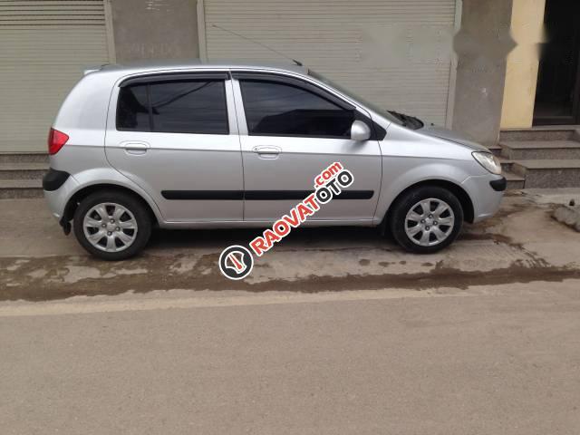 Cần bán Hyundai Getz 2009, màu bạc, nhập khẩu nguyên chiếc xe gia đình-0