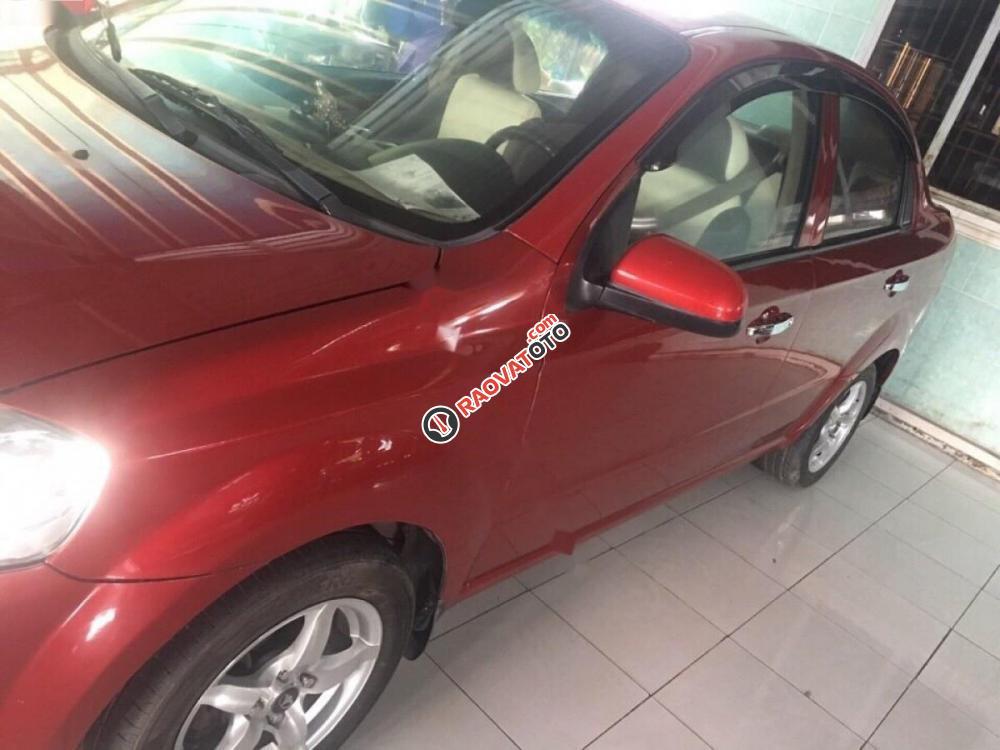 Cần bán gấp Daewoo Gentra SX năm 2011, màu đỏ-0