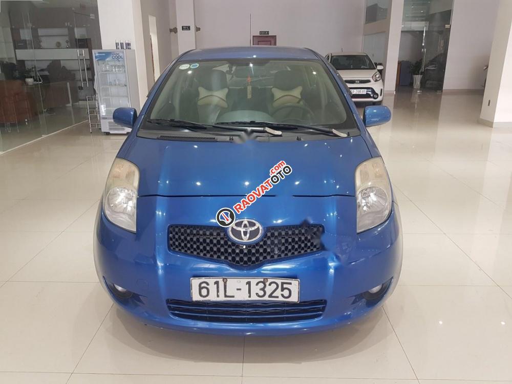 Cần bán lại xe Toyota Yaris 1.3 đời 2008, màu xanh lam, xe nhập-0
