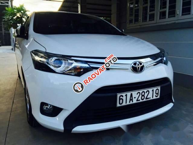 Bán Toyota Vios G 2016, màu trắng -1