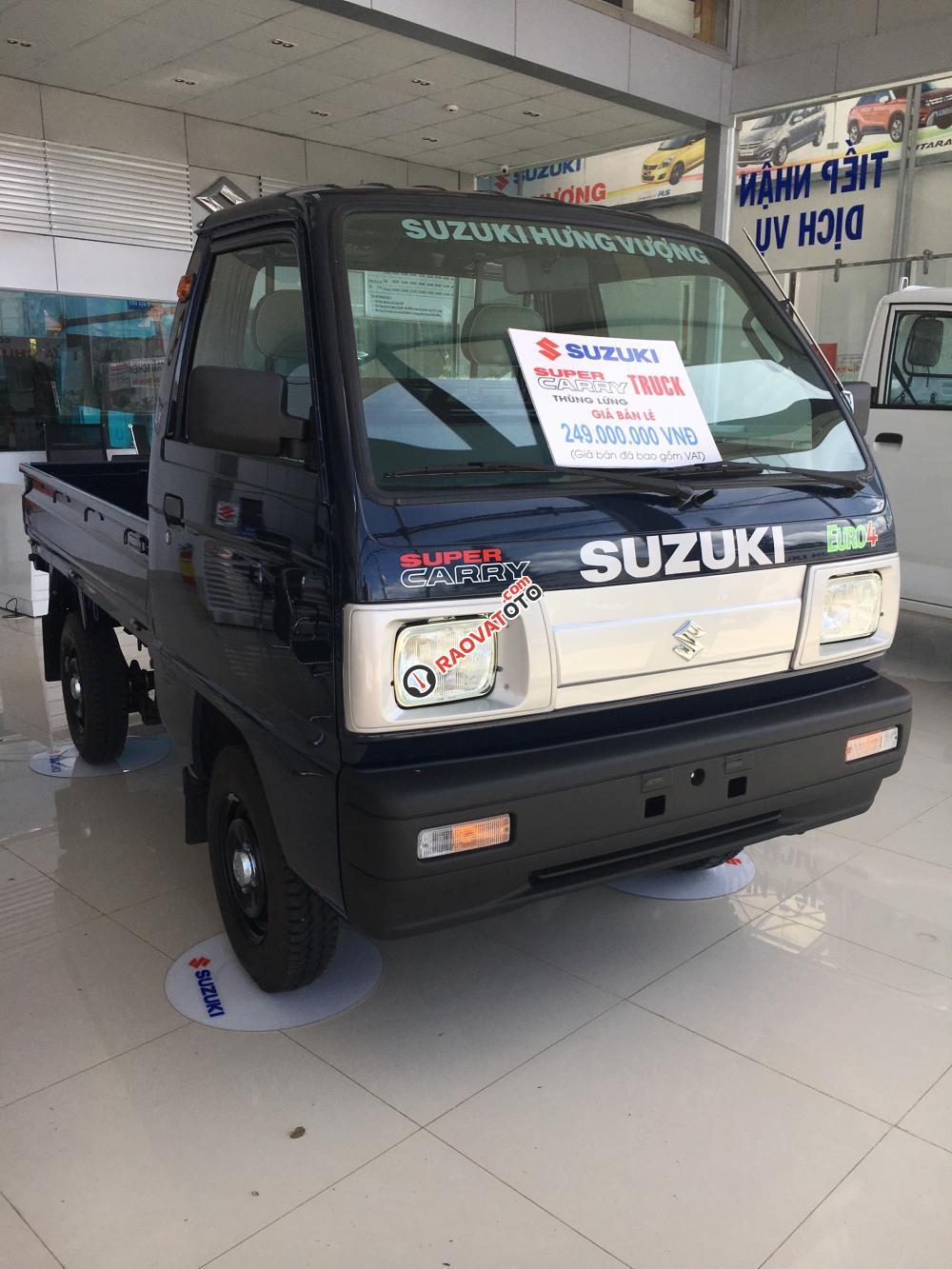 Bán Suzuki Super Carry Truck đời 2017, màu xanh lam giá cạnh tranh-3
