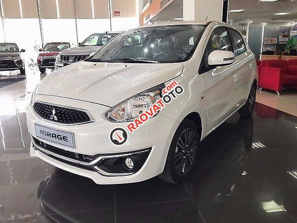 Cần bán xe Mitsubishi Mirage AT đời 2017, màu trắng, nhập khẩu nguyên chiếc-0