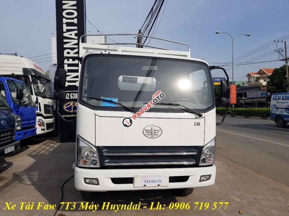 Bán FAW xe tải thùng đời 2017, màu trắng-2