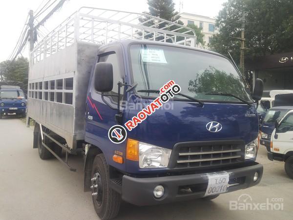 Bán Hyundai Mighty HD99 thùng chở lợn, đời 2017, màu xanh lam, 730 triệu-1