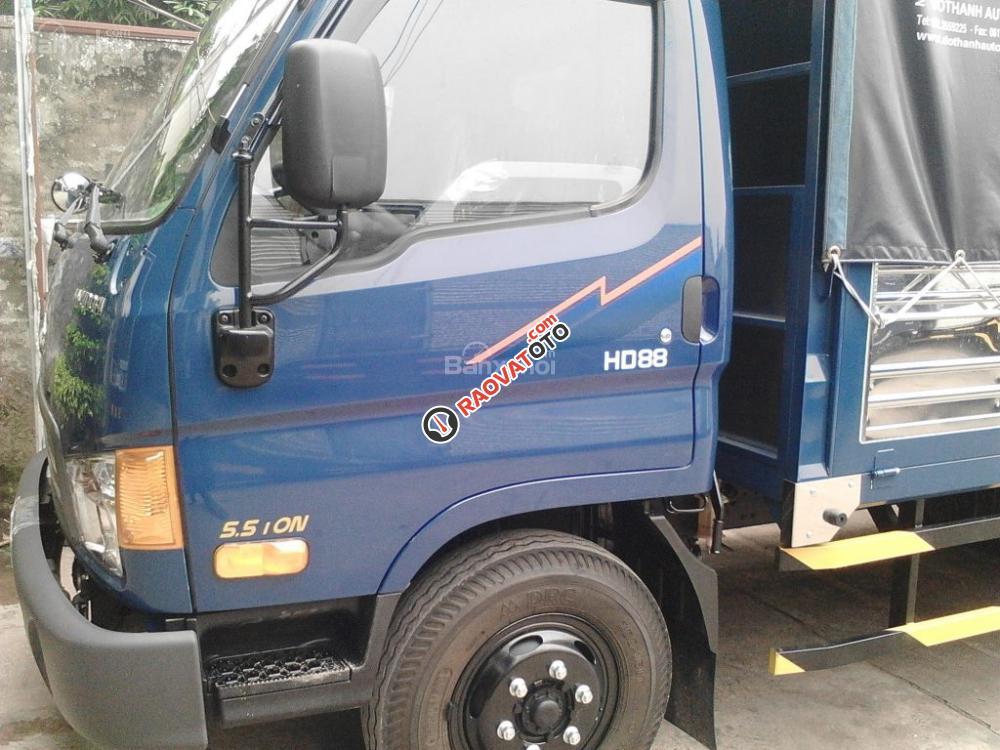 Hyundai Đông Nam bán xe Hyundai tăng tải HD88 5.5 tấn, thùng bạt Inox- Hotline: 0981 032 808-0
