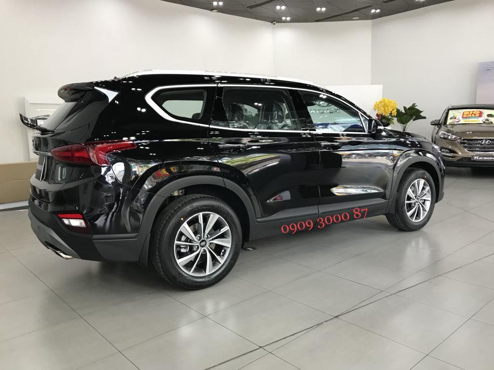 Bán SantaFe 2019, xăng/dầu đặc biệt, màu đen, xe giao ngay-2