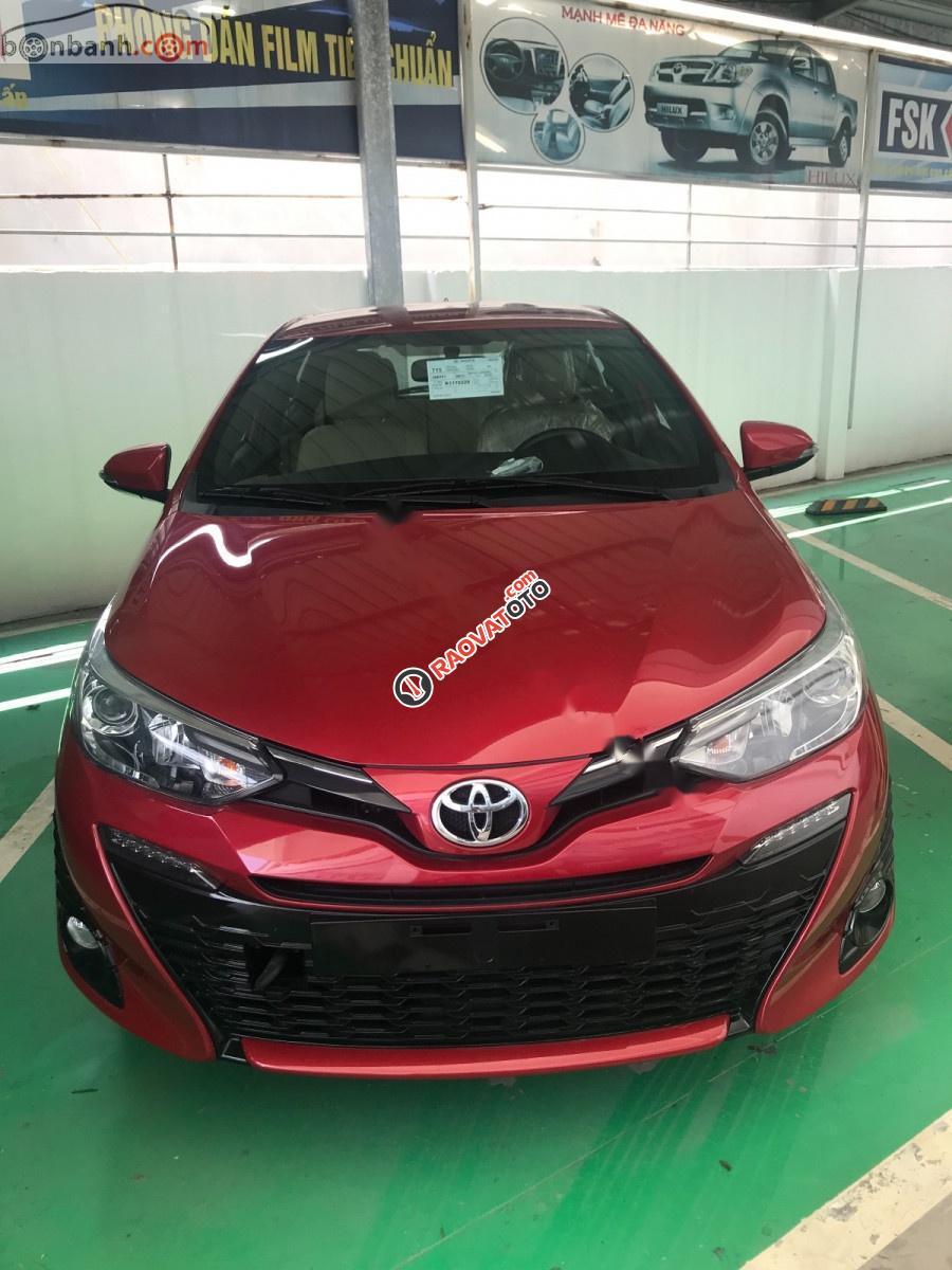 Bán ô tô Toyota Yaris 1.5G năm sản xuất 2019, màu đỏ, nhập khẩu -0