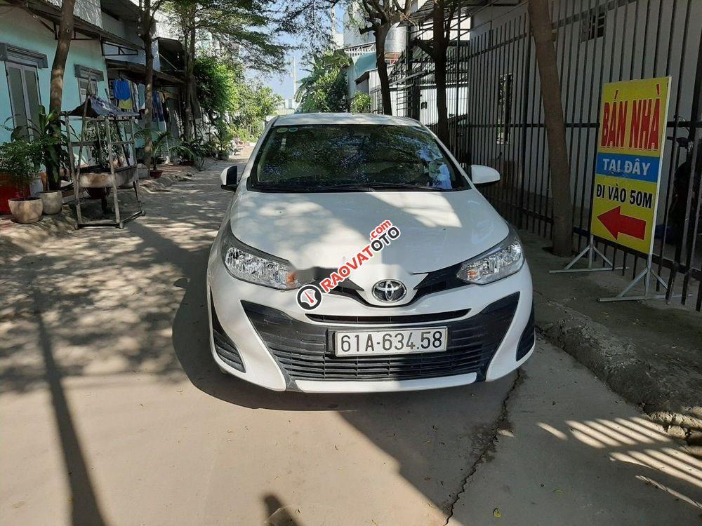 Bán Toyota Vios đời 2019, màu trắng xe nguyên bản-1