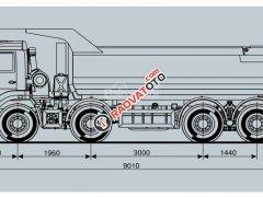 Xe ben Kamaz 6540 (8x4), thùng ben đúc 15m3