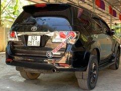 Bán Toyota Fortuner 2.7V 4x4 AT sản xuất 2015, màu đen, đã đi 55000 km