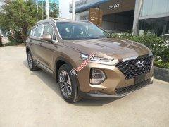 Cần bán xe Hyundai SantaFe cao cấp, máy dầu, phiên bản 2019, màu nâu hỗ trợ trả góp 80%