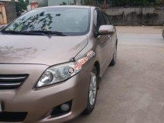 Cần bán lại xe Toyota Corolla Altis đời 2009, màu vàng, một chủ mua từ mới