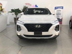 Santa Fe 2019 - Xăng/Dầu tiêu chuẩn, màu trắng, xe giao ngay