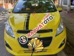Bán Chevrolet Spark LT 1.0 MT 2013, màu vàng, xe đẹp xuất sắc